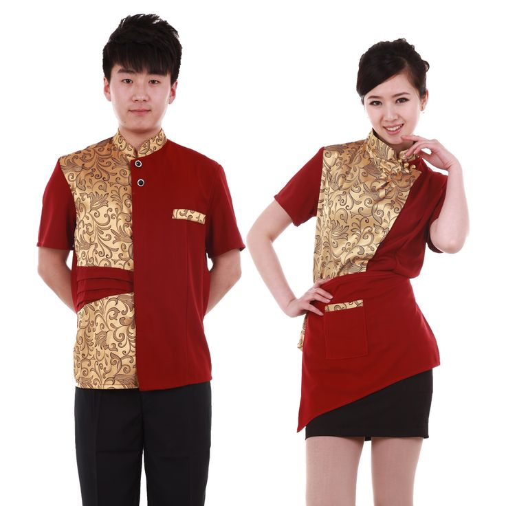 rising dragon hotel uniform jersey short sleeve summer restaurant service employee dining restaurant uniforms for men and women mix - www.9channel.com - TaoBaoProduct