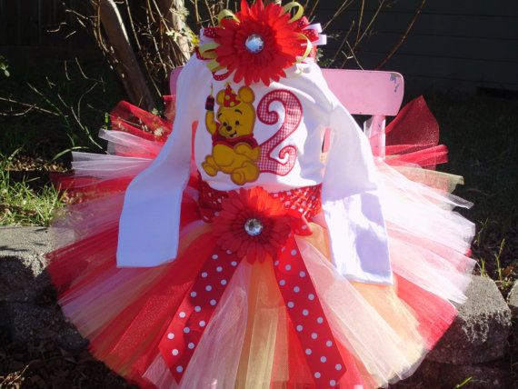 Tutu Birthday Outfit  Whinne the Pooh 3 by TinasOnceUponATutu