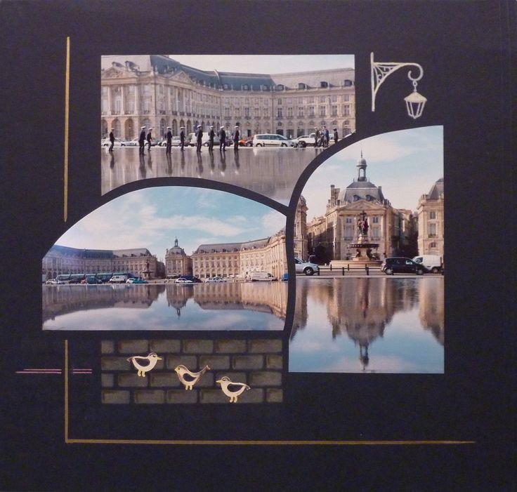 Bordeaux- Le miroir d'eau. Gabarit Madrid-Sidney d'Azza