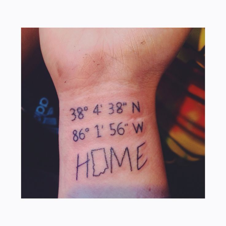 Whenever I go, Laconia, Indiana will always be my home. #indiana #tattoo #newink