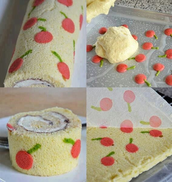 Cherry cake roll how to