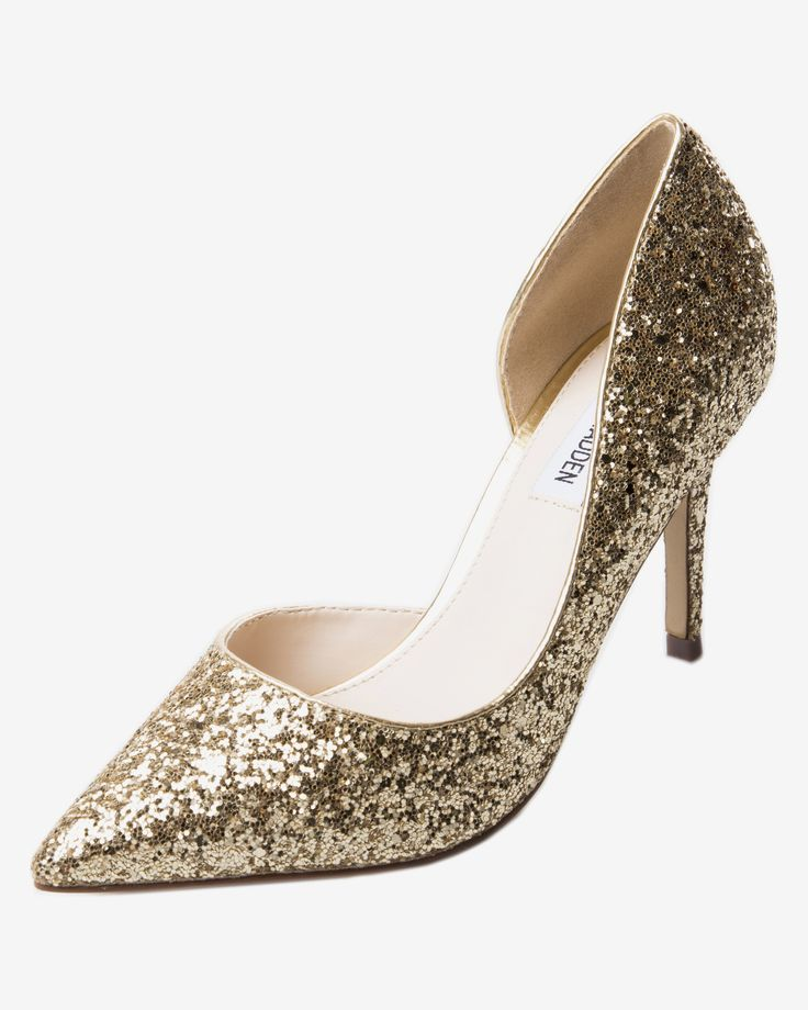 Pantofi escarpen aurii decupati in lateral