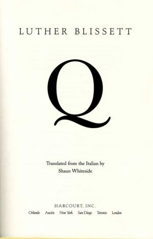 Q (Novel) - GAMEO