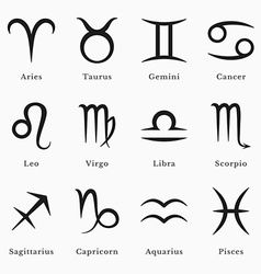 Sternzeichenhoroskop-Symbolastrologieikonen Vektor-Bild
