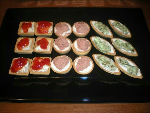 Tartaletas variadas para una cenita!