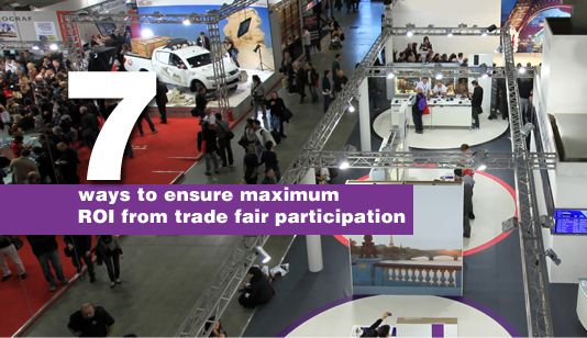 7 ways to ensure maximum ROI from trade fair participation Most companies receive invitations and offers to participate in international trade fairs and in exhibitions around the region and around the globe. These same companies are often reluctant to participate at such events, partly because budgets for marketing and outreach strategies are made before the financial year [… #middleeastbusinessnews #middleeasteconomyarticle