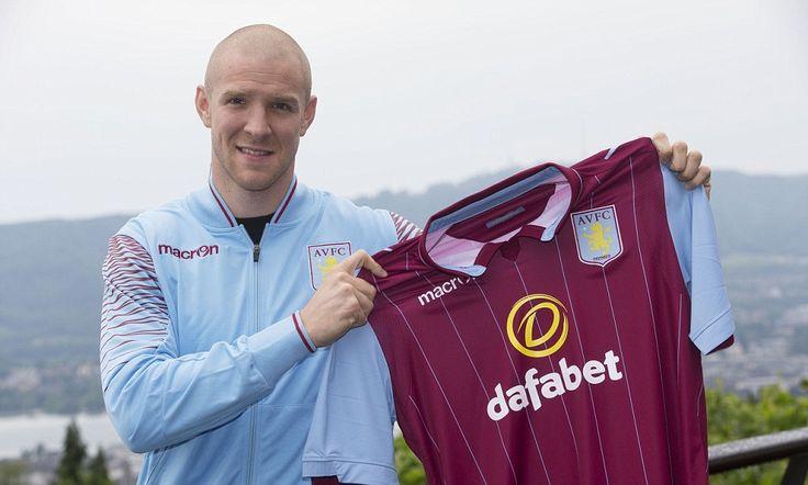 Philippe Senderos signs for Aston Villa in June 2014