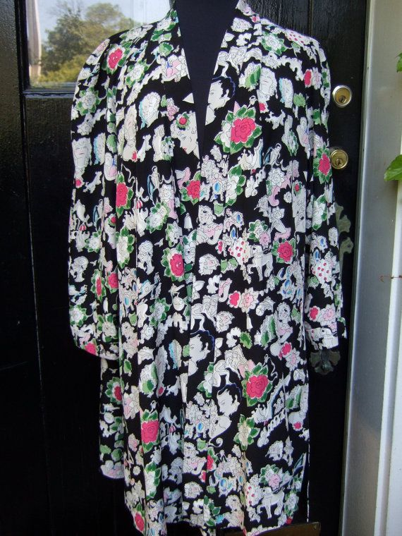 #wouldwear CHANEL BOUTIQUE Opulent Vintage Silk Print Duster Jacket (Authentic). $565.00, via Etsy.