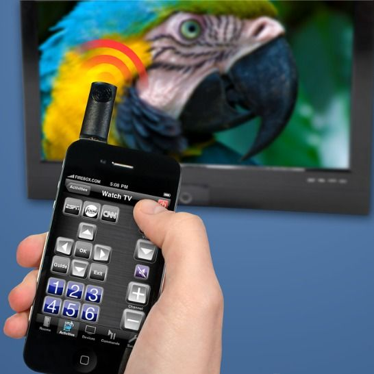 Turn an iPhone into a universal remote with UIRemote, which plugs into the audio mini-jack.