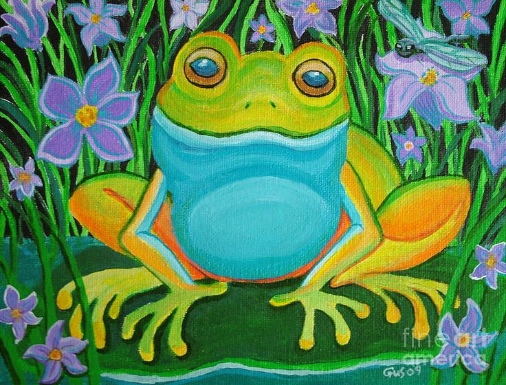 Frog on a lily pad Painting by Nick Gustafson - Frog on a lily pad Fine Art Prints and Posters for Sale