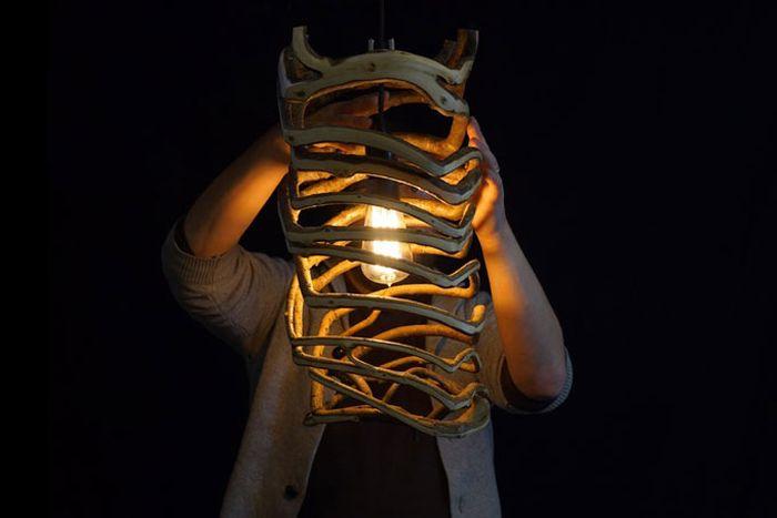 Totally organic lamp