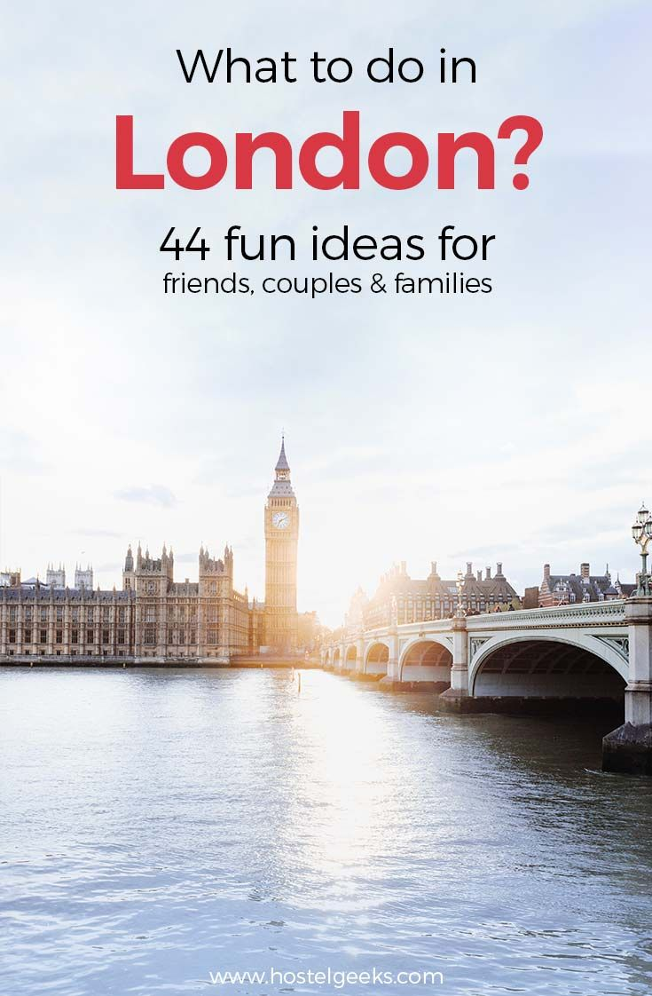 We collected a huge list of fun things to do in London. Life is serious enough, right?!  Just browse through the list, and pick your favourite(s).  We created this list when staying at the 5 Star Hostels Palmers Lodge Swiss Cottage and Palmers Lodge Hillspring.  These are without a doubt, the two best hostels in London!  This list gives you access to fun things to do in London at night and during the day. It is for couples, solo-travelers as well as friends looking for a good time.