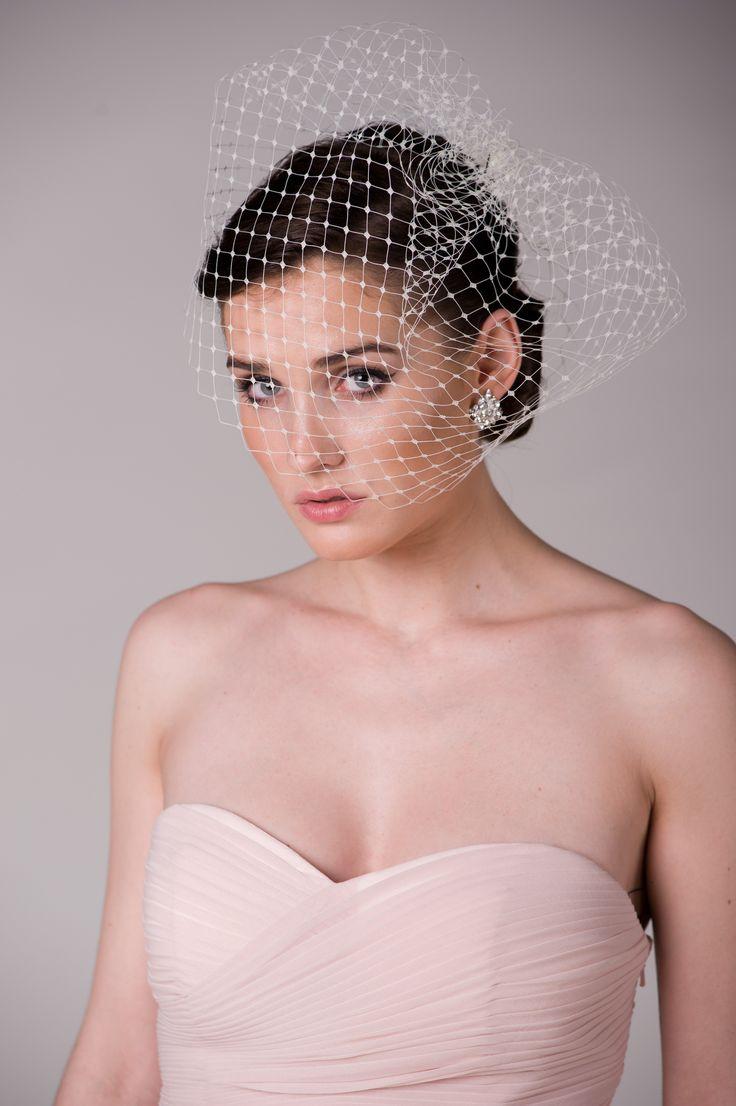 NOVIA BLANCA birdcage veil and earrings www.novia-blanca.pl woalka i kolczyki