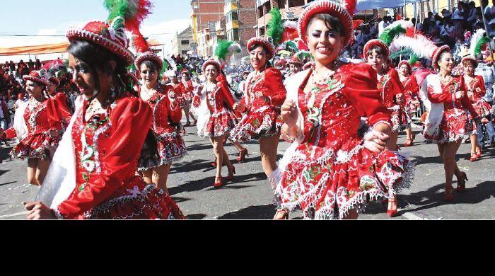 """(Noticias) L., 3 MAR 2014       BOLIVIA > CARNAVAL DE ORURO - """"A pesar del luto que vive Oruro, el Carnaval continúa"""" - Diario Pagina Siete"""