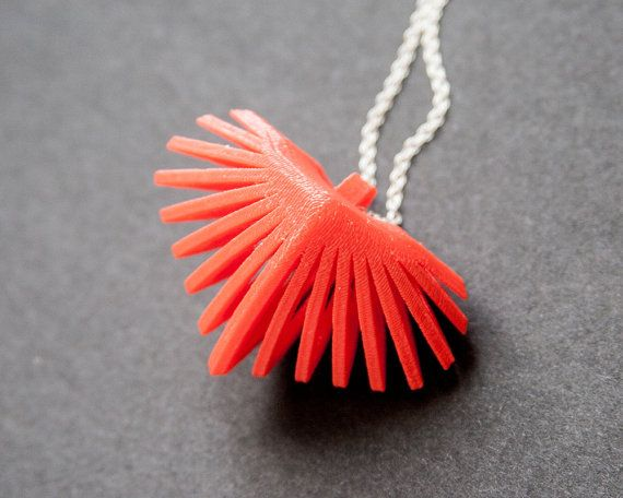 3D Printed Heart Necklace by TheCoconutRobot on Etsy