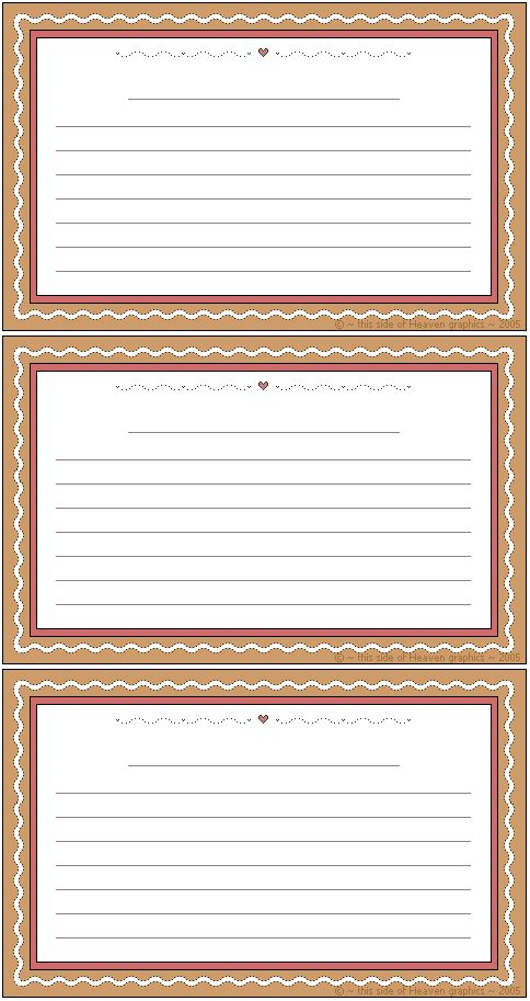 479 best Scrapbook Free Printable Recipe Cards images on Pinterest - free recipe card templates for word