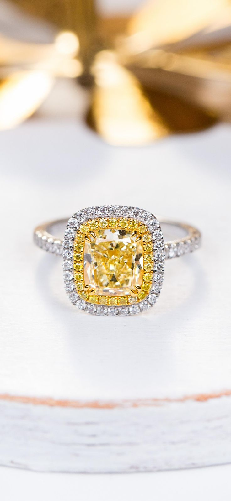 Forevermark Golden Diamonds halo engagement ring is a shining symbol of your love. Find your perfect one to fit your style.