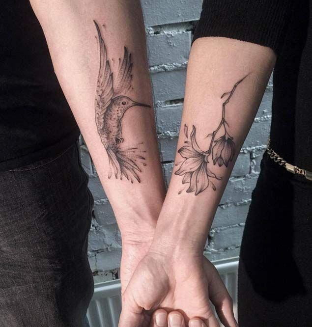 Hummingbird Couple Tattoo by Aenea Tattoo