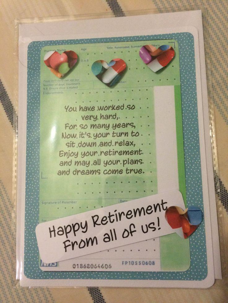 doctor retirement card