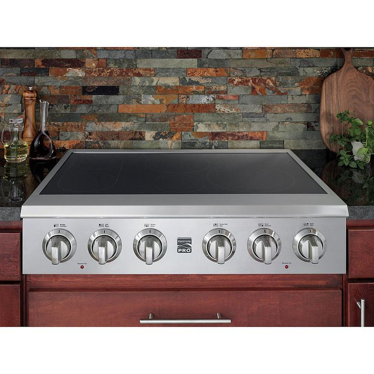 "Kenmore Pro 36"" Slide-In Electric Cooktop - Stainless Steel - Appliances - Cooktops - Electric Cooktops"