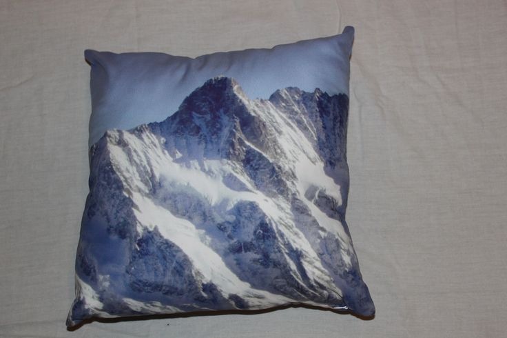 Pillow with Alps mountain photoprint