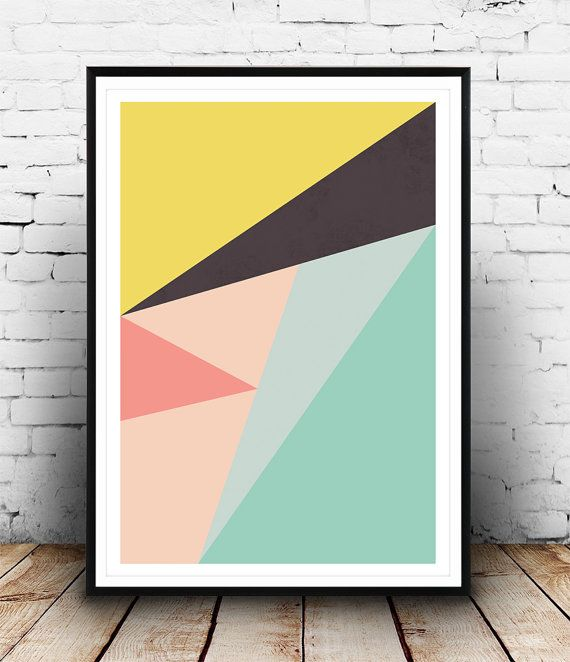 Modern minimalist abstract print.    Dimensions available:  5 x 7 8 x 10  11 x 14  A4 210 x 297 mm (8.3 x 11.7)  A3 297 x 420 mm (11.7 x 16.5)  - Please choose from drop down menu above!    If you are interested into any size that is not available, please contact us.        INFO:    Prints are printed on 240gsm Archival Matt photo paper    Shipped in a sturdy mailing tube with sealed caps    Frame is not included.    Colors on the print may look slightly different in reality thanks to the…