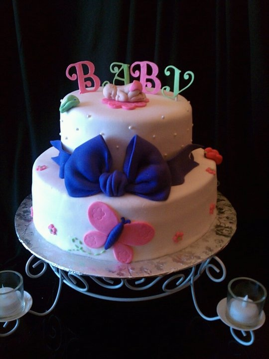 Butterfly Baby Shower Cake Images : Butterfly themed baby shower cake. baby shower ideas ...