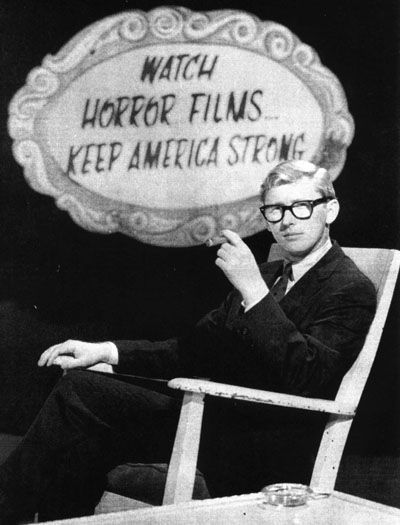 """Creature Features"" with host Bob Wilkins (ran from 1971-84)..I hid in my room when this came on."