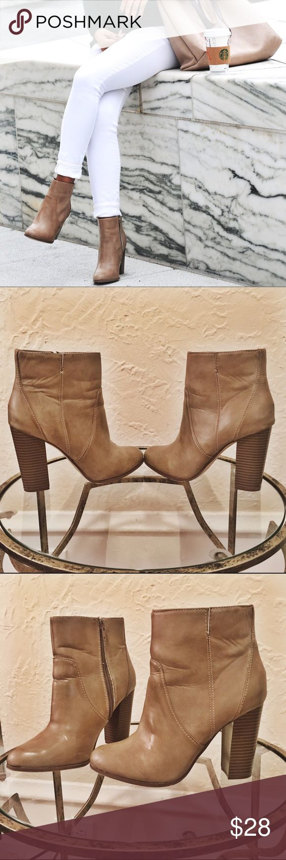 Aldo for target Taupe booties Super cute taupe booties. Zip inside. Wide ankle mouth. Aldo for target, unavailable is stores now. Aldo Shoes Ankle Boots & Booties
