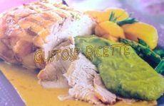 Arista di maiale con crema di asparagi e patate