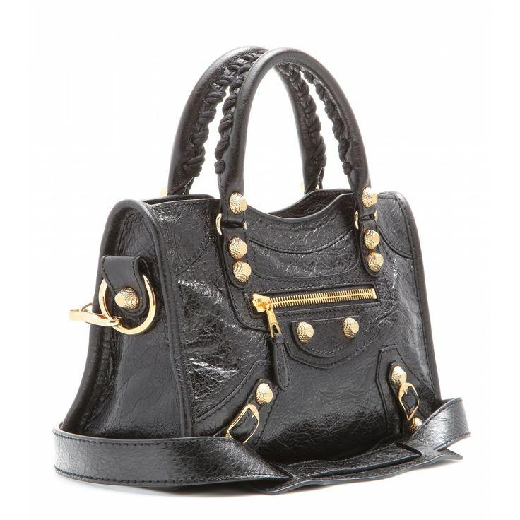 Balenciaga - Giant 12 Mini City leather tote with gold hardware