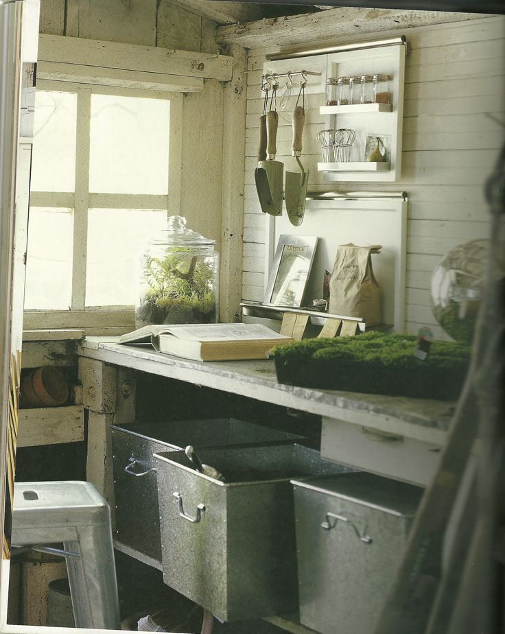 Garden Shed Organization   Potting Soil In Bins Under The Shelf?