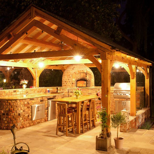 Kitchen Garden Model: Large Oak Frame Pavilion