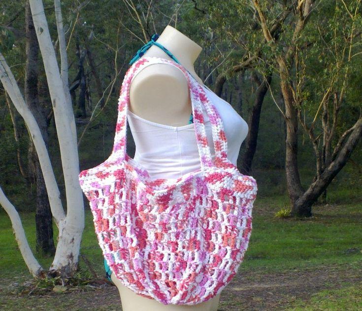 Mesh Market Bag 2 Handles Crochet Tutorial
