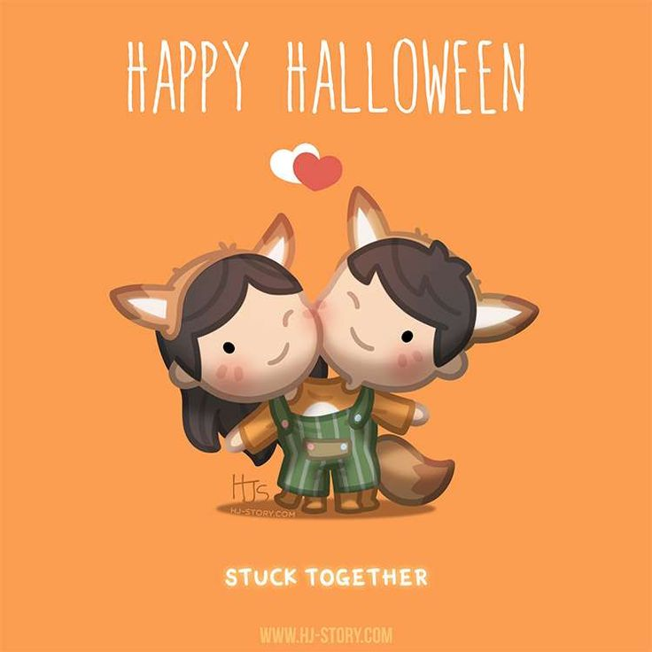 """Happy Halloween.. Wishing.. but not actually being """"stuck together"""" nopers! But being with each other all the time YesYesYes!! =) <3"""