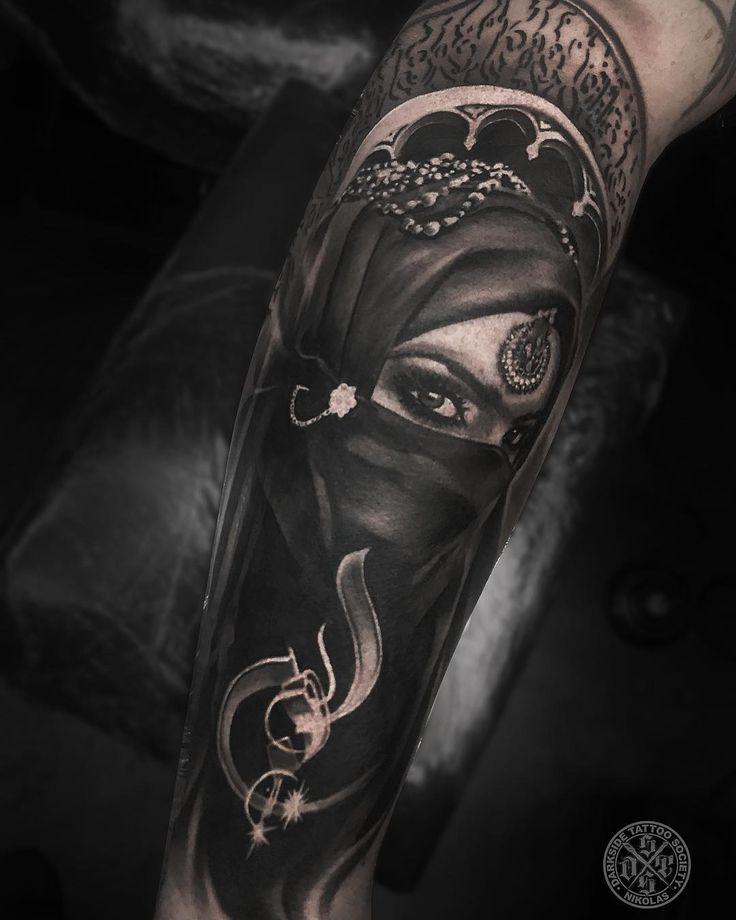 Amazing Woman Portrait Tattoo