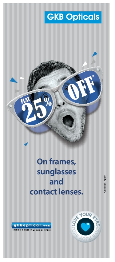 A taste of style with our FLAT 25% on Branded eyewear awaits you on http://www.gkboptical.com . Must you hurry folks :)