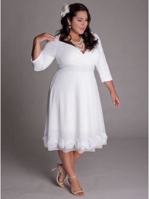 208 best Short Plus Size Wedding Dress images on Pinterest | Wedding ...