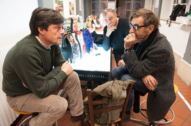 Massimo Mariotti (De Couture ) with Accademia Accessories Coordinator Luigi Mulas Debois #accademiacostumeemoda #decouture #accessories