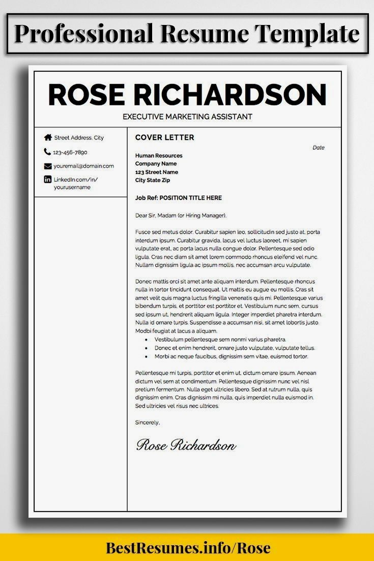 professional resume template to stand out with your job