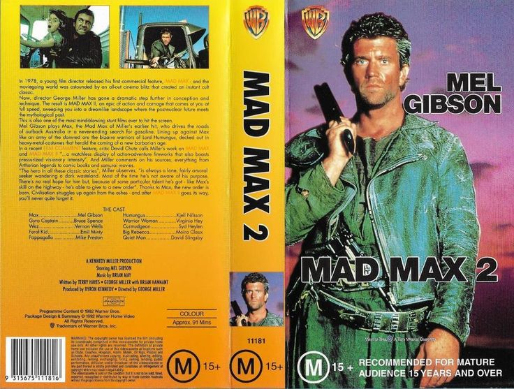MAD MAX 2 THE ROAD WARRIOR - VHS VIDEO - ACTION CLASSIC MEL GIBSON