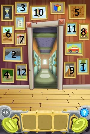 100 Doors Cartoon Level 38 Cheats - Escape Saga level 38 Hints Note the painting and the direction of the arrow on the door Tap each painting on the wall in