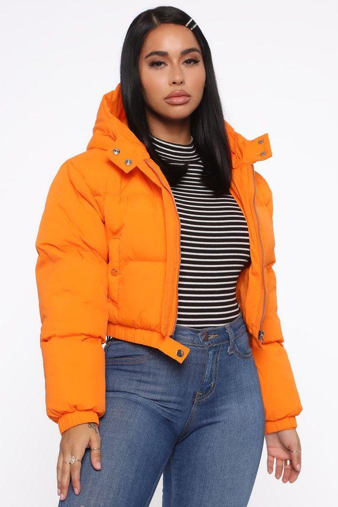 Play No Games Puffer Jacket Orange Puffer Jacket Outfit Puffer Coat Outfit Puffer Jacket Women