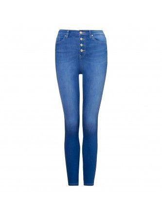 Heidi High Waist Ankle Grazer Jeans Back Image