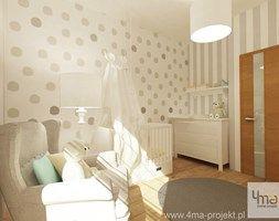 Projekt mieszkania 98 m2 w Wilanowie. - Średni pokój dziecka dla chłopca dla dziewczynki dla niemowlaka, styl eklektyczny - zdjęcie od 4ma projekt