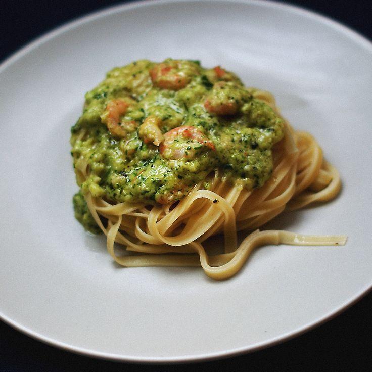 Паста с креветками в сливочном песто рецепт – итальянская кухня: паста и пицца. «Афиша-Еда»