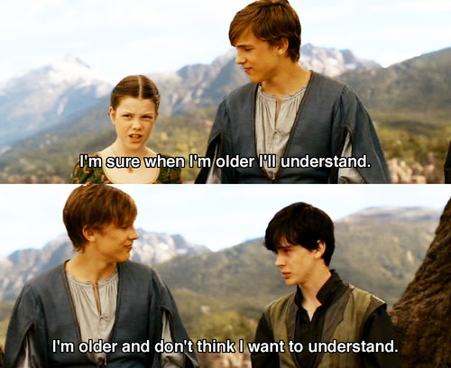 Georgie Henley and Skandar Keynes in The Chronicals of Narnia: Prince Caspian