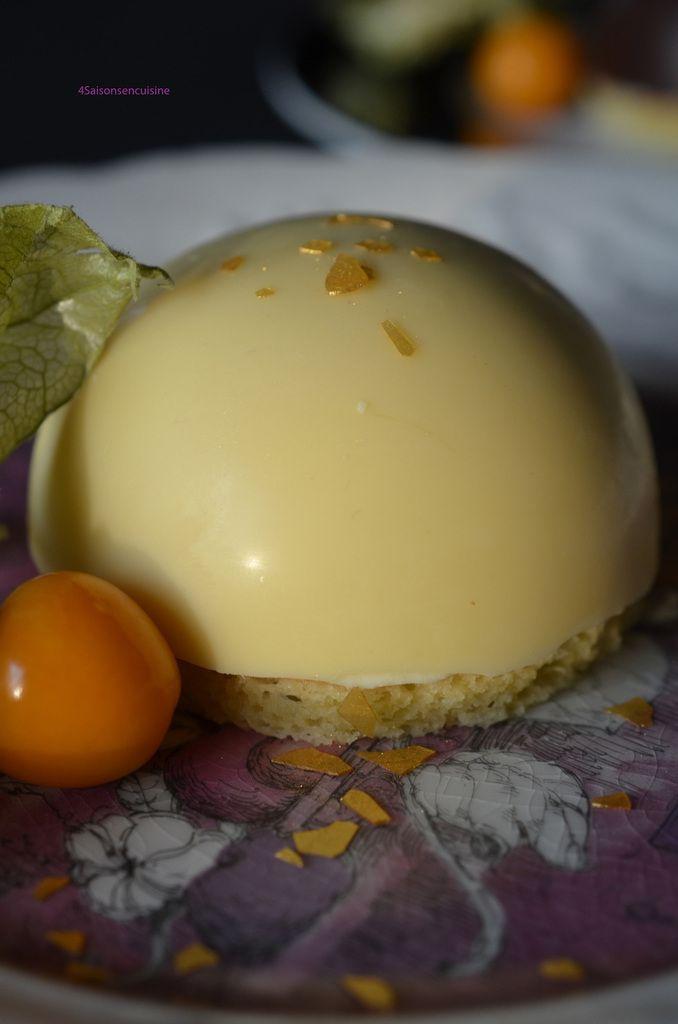 Un dessert réalisé spécialement pour Roselyne, qui en vraie gourmande, adore les desserts et spécialement ceux au citron et au chocolat. Le challenge était d'associer le chocolat blanc et le citron ... en utilisant un dôme chocolaté et une mousse citronnée,...