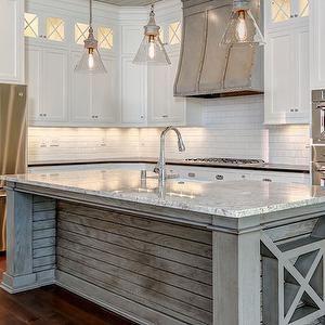 Plank Kitchen Island, Transitional, kitchen, Stonecroft Homes