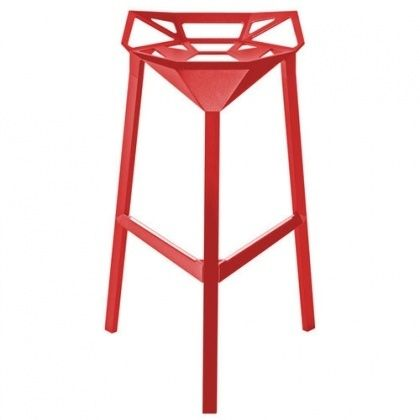 Tabouret de bar rouge Stool One H77